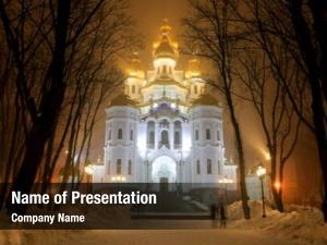 Mironositskaya night scene church orthodox