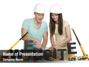 Construction website under concept: cheerful