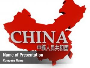 Map red illustrated, country china,