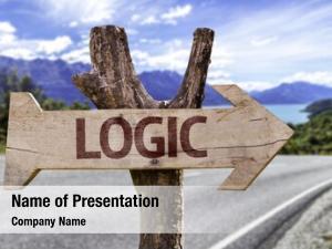 Sign logic wooden road