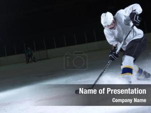 Player ice hockey ice