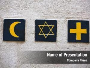 Symbols: set religious islamic crescent,