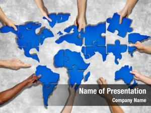 People aerial view forming world
