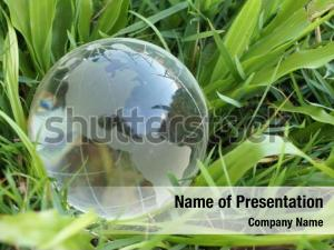 Crystal globe on grass