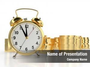 Clock golden alarm stacks golden