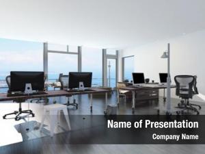 Office modern waterfront overlooking sea