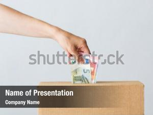 Charity finances powerpoint template