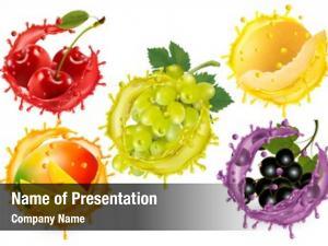 Juice set fruit splash white