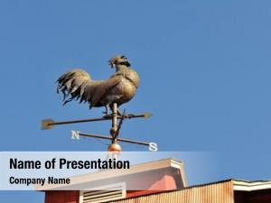Shaped weather vane like rooster
