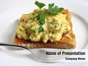 Chopped scrambled egg fresh parsley