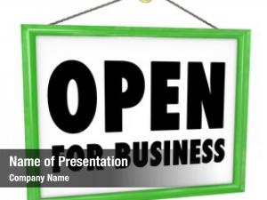 Business words open sign that