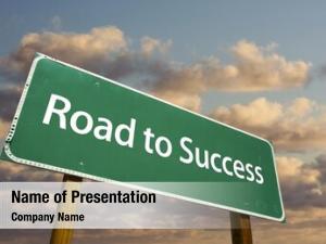 Green road success road sign