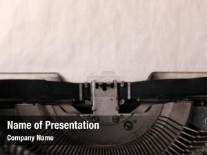 Machine vintage typewriter close up