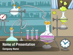 Cartoon hand drawn chemical laboratory