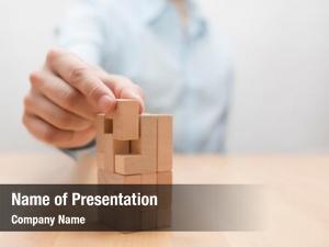 Achievement puzzle businessman complete