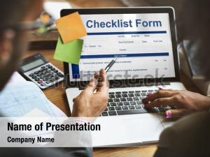 Brainstorming application checklist form