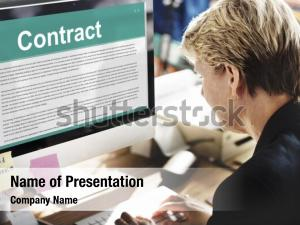 Businesswoman terms business contract