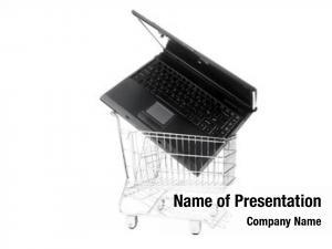 Shopping laptop computer cart, white
