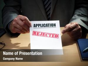 Been application has rejected concept