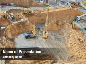 Construction foundation ditch machinery construction
