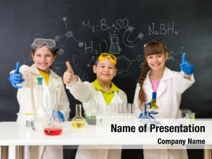 Students three little chemistry lesson