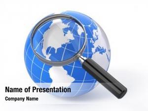 Earth icon search globe magnify