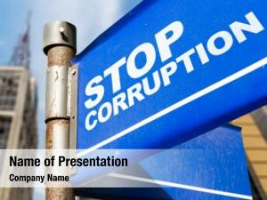 Written stop corruption road sign