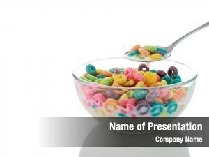 Breakfast colorful kids cereal loops