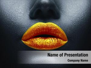 Art, lips makeup black skin