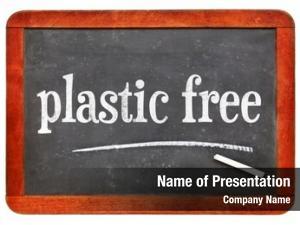 Blackboard plastic free sign white