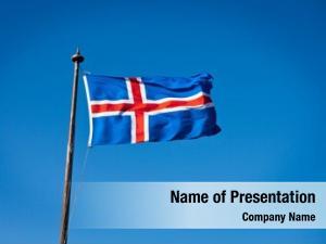 Flag civil national iceland blue