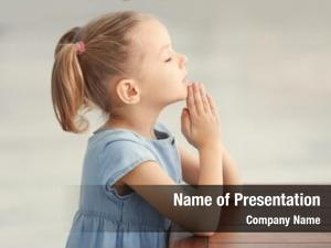 Girl cute little praying home