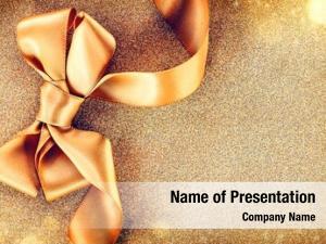 Ribbon christmas golden bow blinking