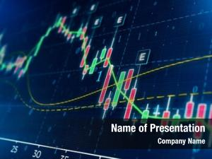 Concept stock market business candle