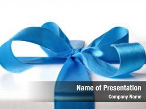 Wrap blue ribbon, around every