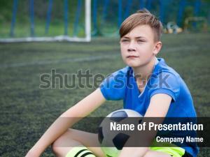 Boy footballer powerpoint template