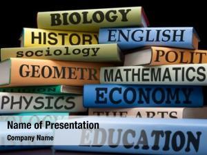 Stack school books educational textbooks