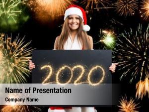 Holding xmas woman happy 2020