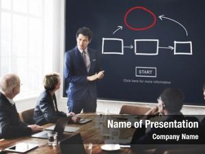 Management flowchart corporate process concept