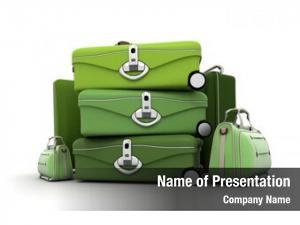 Green luggage kit shades
