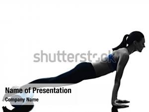 Woman pilates powerpoint background