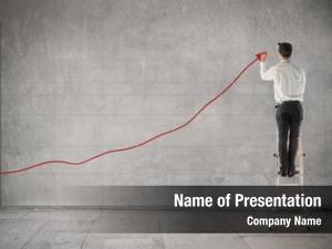 Chart businessman creating earnings
