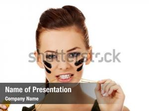 Aggressive military powerpoint template