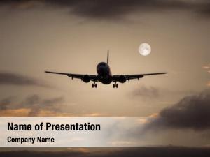 Air photography jet plane moon