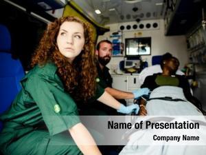 Ambulance paramedics patient
