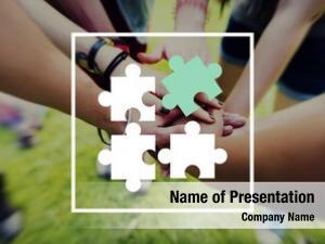 Partnership jigsaw puzzle teamwork team