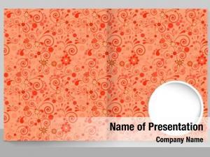 Copybook template cover trendy design: