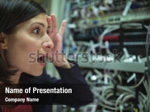Stressed technician getting over server