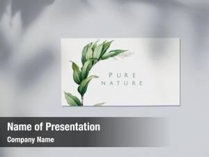 Business pure nature card mockup