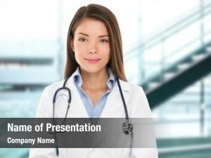 Woman asian doctor portrait